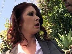 Tiffany Mynx has something to prove, and it's that cougars love black cock just as much as their younger rivals.Tiffany Mynx is hell bent on showing just why she's been able to last 20 years in the porn game and her asshole is up for grabs. Tiffany Mynx sucks on meaty black cocks right before he chows down on her moist box. That soaking wet pussy is taking a break so that her rear entry can experience an uninterrupted pounding by a huge black cock.Enjoy this hot threesome fuck scene.