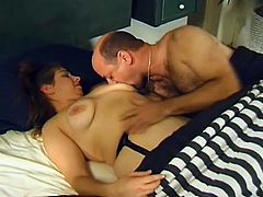 Amateur MILF In Sexy Fishnet Stockings Gets Pounded