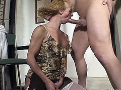 Mature transsexual prostitute eats ass after getting throat fucked brutally