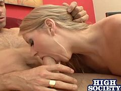 Take your time with this hardcore scene as you'll see the beautiful Carolyn Reese being fucked silly by a big cock as you hear this blonde moan.