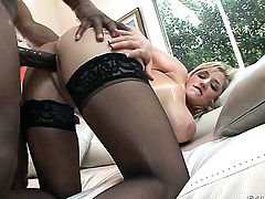 Dayna Vendetta gets orally fucked by Prince Yahshua s meaty mouth stretcher