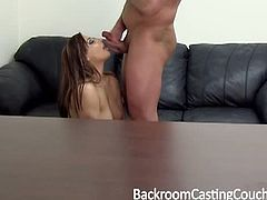 This is the first time in casting couch we have seen this tempting babe Lilyanna who is so fucking gorgeous. She is shy at first but once we got the party started she furiously wants dick on her mouth and her pussy.