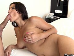 Angel Rivas is a hot girl with huge titties who takes a large cock in her ass hole. Nick Moreno drills in her ass hole rough, making her moan and get dripping wet.