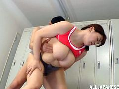Go wild as you watch this chubby Asian, with big jugs wearing sportive clothes, while she gets fucked hard in a reality video. She's on fire!