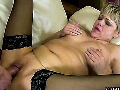 Brunette shows her love for love tunnel drilling in crazy pornaction with horny man