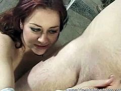 The Art of Handjobs brings you a hell of a free porn video where you can see how this nasty redhead milf gives her man a great handjob while assuming sexy poses.