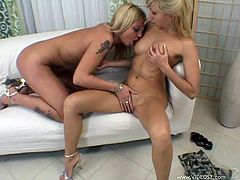 Two sextractive eye catching enchantresses start kissing each other with passion and get horny. Thereafter they have awesome oral sex in 69 pose.