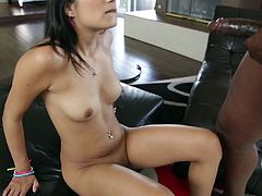 Get a load of this amazing hardcore scene where the slutty Latina Miya Stone sucks on this guy's big black cock before being fucked silly.