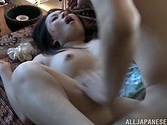 Check out this hardcore scene where this horny Japanese babe is fucked silly by her man on a hot springs spa as you hear her moan.