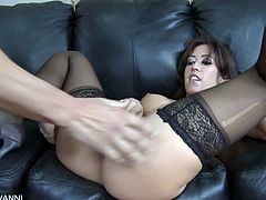 Eat Sleep Porn brings you a hell of a free porn video where you can see how the alluring brunette slut Capri Cavanni gets banged hard and deep while wearing stockings.