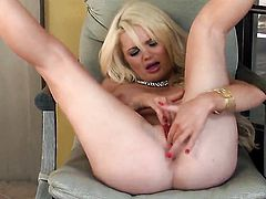 Alexis Ford has fun with dildo