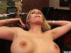 Gorgeous Blonde Cougar With Long Hair Getting Hammered