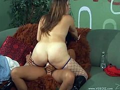 Kitty Langdon and Jessica D'Vine are having lesbian fun indoors. The lesbians play with each other's big natural tits and then show their pussy-eating skills.