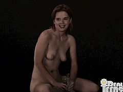 Kinky brown-haired chick Danielle Day is playing with a fucking machine indoors. She sits down on the device and gets her clit stimulated like never before.