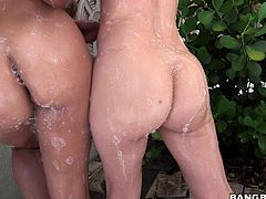 Here we have two naughty girls with big hot asses that just beg for a few spanks on those butts! Miss Rican and her gf Adrian go all wild and slutty in front of the camera and taunt us with what they have. After fooling around enough, the girls prepare for a special time so let's sit back, relax and enjoy it!