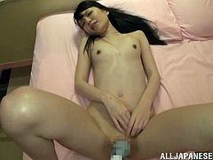 Aya Eikura wanted to pee in the comfort room but gets to blowjob a complete stranger's cock. This Japanese hottie gets to masturbate her hairy pussy and gets banged hardcore.