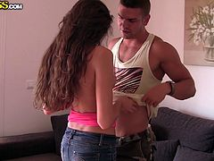 Have a peak into these two lovebirds love life! Juan and his naughty girlfriend Nessa are showing us in front of the camera how they like to spend some quality time with each other and damn these two are good! They get naked, Nessa sucks his cock and then things get out of control! Enjoy a private moment!