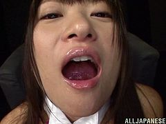 Rio Ogawa takes more than four cocks in a bukkake gangbang fuck scene. The Japanese hottie is not contented with a vibrator but gets pounded for a cumshot in the mouth.
