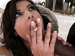 Lou Charmelle and hot dude are two sex addicts that make each other happy in steamy sex action