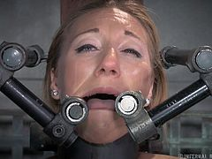 Blue eyes blondie Emma is a fragile cutie that needs our attention, especially now when the executor is using her body in the roughest way possible. He shows her no mercy and destroys her self esteem, making out of our cutie a worthless whore. How much can she endure it when crying and moaning are not helping?
