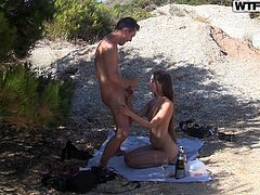 outside fun with a hottie
