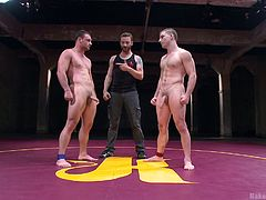 The men are serious when it's about wrestling but they get even more serious when it's about fucking! These two gave their best but in the world of Naked Kombat there's only one winner that stands proudly on his feet and an submissive slut that swallows cock and licks ass. Yeah, don't miss this hot action!