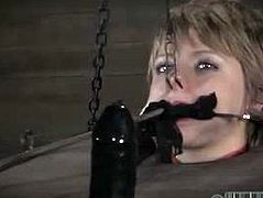 Horny redheaded slut Alana Pi is ready or some hardcore BDSM action in the dungeon. Watch as she gets tortured in realtime and her fans give suggestions now.
