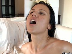 Most of the girls loves big or huge cocks, it depends of how slut and horny is the babe. Denise Sky is really naughty and she likes CocksXL so we are here, to satisfy the cock hungry brunette bitch thirst with hard fuck and fresh cum.