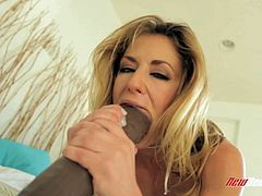 Take a look at Sheena Shaw's amazing body in this hot solo scene where you'll see this sexy blonde penetrating her wet pussy and tight asshole with large dildos.