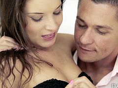 Anita is a very beautiful brunette with a silky skin and a sexy body. She and her boyfriend, Sabby are in the mood to play some sexual games so he strips her clothes, and rubs those little sexy nipples. She gets on her knees and gives him a blowjob. In return Levi will lick her wet lustful vagina. Will he fuck her?