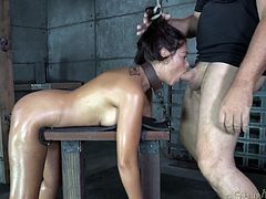 bitch restrained and fucked