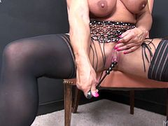 WildKat Plays With Her Big Clit