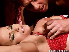 Mature Katy Parker with massive melons gets skull banged