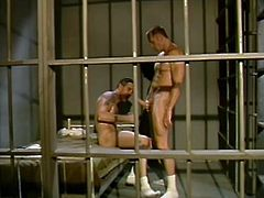 What are you waiting for? Watch these homosexual men, with strong arms and huge pricks, while they have anal sex in a retro video.