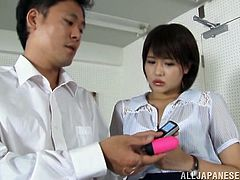 Take a look at this hardcore scene where the sexy teacher Saya Tachibana is masturbated by one of her horny students.