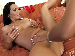 Katia de Lys is another fucktoy of insatiable lesbian Sandra Romain