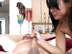 Asian Yuki Mori sucks like a sex crazed animal in oral action