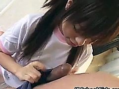 Japanese schoolgirl loves cock