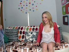 Horny skanks Sarah Shevon and Lily Labeau show their tits and butts to a man and kneel in front of him. Sarah and Lily suck and deepthroat the dude's wang and also lick his balls remarcably well.