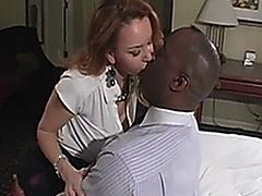 Janet Mason takes an interracial creampie