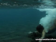 Defloration TV brings you a hell of a free porn video where you can see how these two naughty brunettes play together underwater while assuming very hot poses.