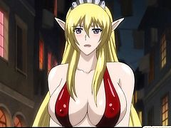 Horny hentai elf with bigboobs assfucked