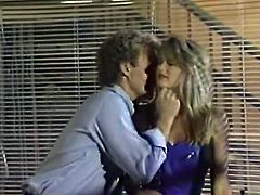 Joey Silvera took some time to convince this hot old school blonde to fuck him, but it was all worth it when she was riding his stiff dick and making him cum.