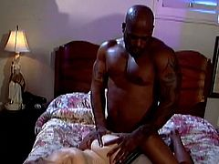 This hot cougar MILF loves to take a big black cock in her mouth for a suck in a hardcore blowjob fuck time.