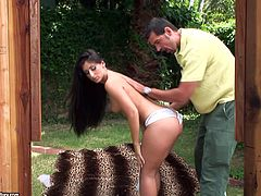 Take a look at this hardcore scene where the sexy big booty blonde Luscious Lopez takes a ride on a big fat cock out in the open as you hear this mami moan.
