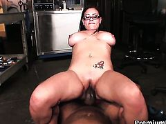 Selena Castro with huge tits fucks the jizz out of guys love stick in steamy interracial action
