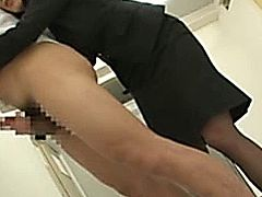 Japanese asian mommy jerking dong