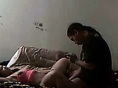 Homemade sex tape with filipina.
