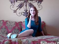 Compiling ball busting sluts on cam. Listen as they say these to you. Your balls stand absolutely no chance against me and my pointy high heels.  You've seen my videos and how hard I love to kick losers like you in the balls.
