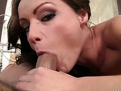 David Perry explores the depth of seductive Sophie Lynxs throat with his meat pole before anal sex